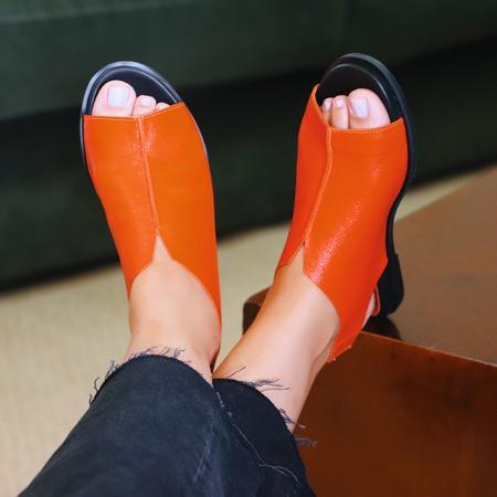 Sandália Confort Nuvem- 843-01 Tangerina - Universo Bubblê