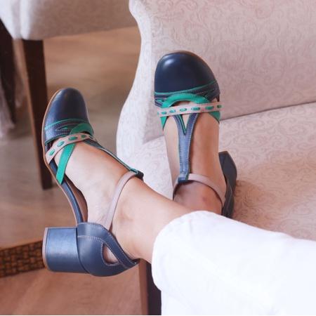 Sapato Boneca Bali Salto Baixo Azul Marinho, Horte... - Universo Bubblê