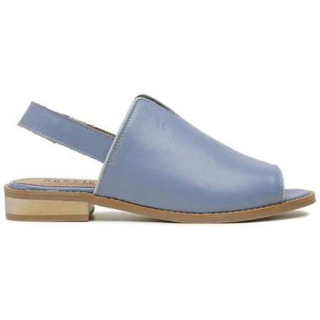 Sandália Salto Baixo Abbraccio Azul Hortência- 842... - Universo Bubblê