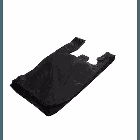 Sacola Plástica Preta Média 40x25 ( 15137) - Padrão
