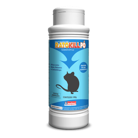 Raticida em pó Ratokill 100g - Insetimax - AGROCAC