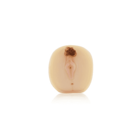 Masturbador Para Dupla Penetração Com Pelos (TWB19-420) - Bege