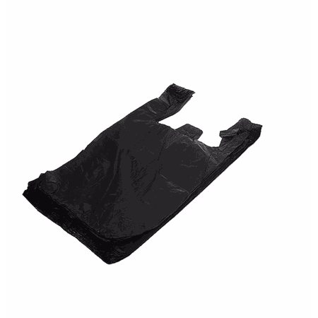 Sacola Plástica Preta Pequena 35x20 ( 16600) - Padrão