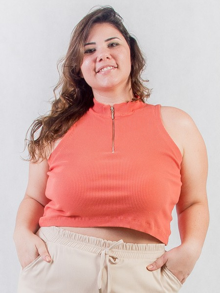 Cropped Plus Size Coral
