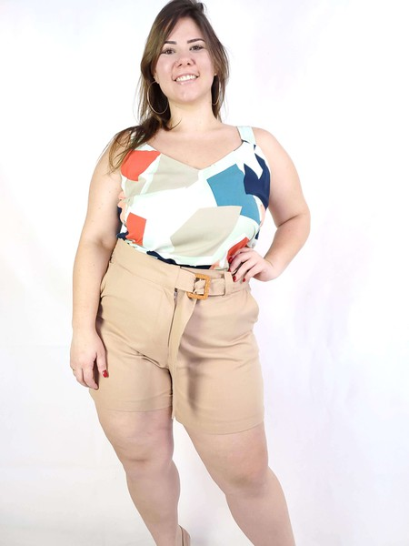 Shorts Plus Size Rosê
