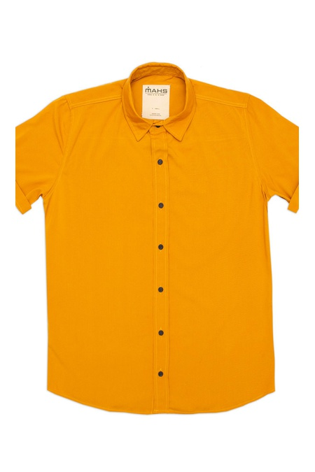 Camisa Visco Confort Mostarda Unissex Mahs