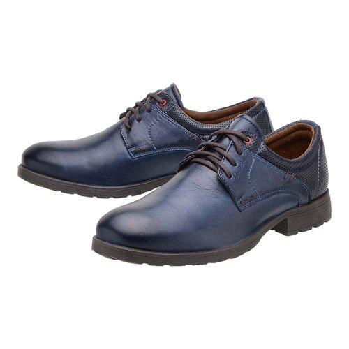 Sapato Casual Masculino Saara Azul em Couro