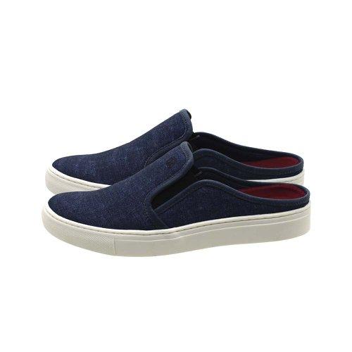 Mule Masculino Stratus Oxford Azul | Calçados Laroche