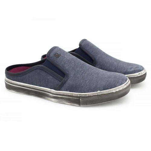 Mule Masculino Stratus Eco em Lona Azul Escuro Jeans