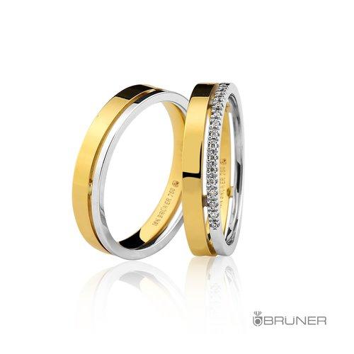 Alianças de Casamento ou Noivado em Ouro 18k Com Brilhantes
