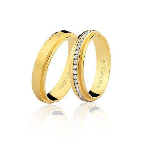 Aliança de Casamento em Ouro 18k Sem Brilhantes