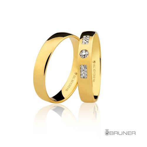 Alianças para noivado em Ouro 18k 0,750 Com Brilhantes