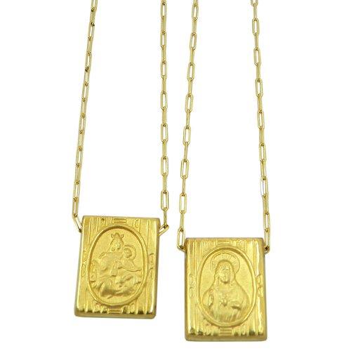 Escapulário em Ouro 18K Nossa Senhora do Carmo