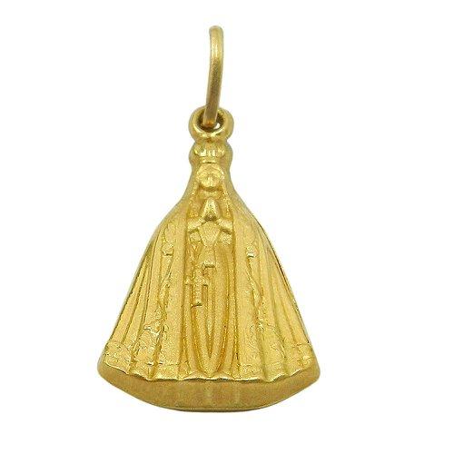 Pingente em Ouro 18k Nossa Senhora Aparecida