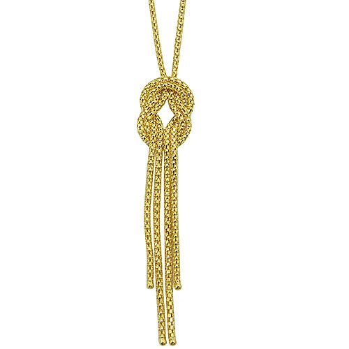 Gargantilha de Ouro 18k com pingente de nó