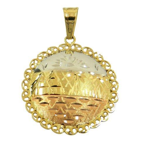 Pingente Mandala em Ouro 18K 0,750 1.9g