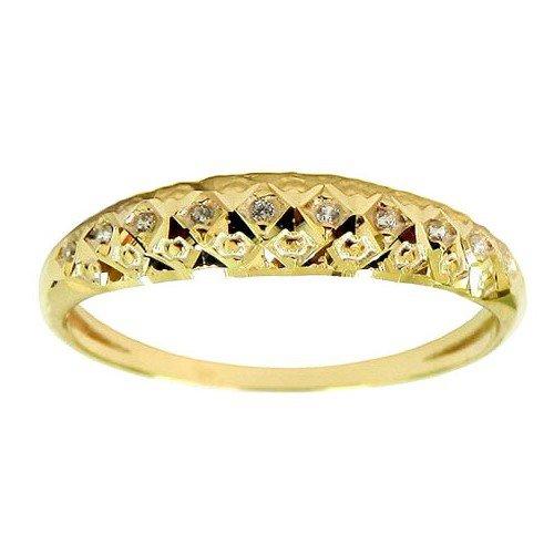 Anel Aparador diamantado Ouro 18k com Zircônias