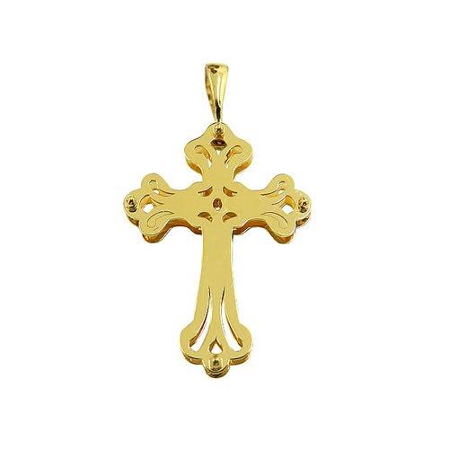 Pingente Crucifixo Vazado de Ouro 18k