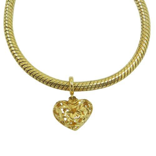 Pingente em Ouro 18k Coração Pandora