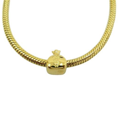 Berloque em Ouro 18k Saco de Dinheiro