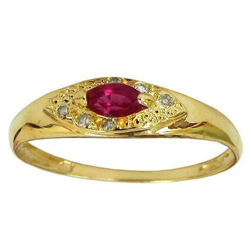 Lindos Anéis Femininos de Ouro 18k com Diamantes e Rubis