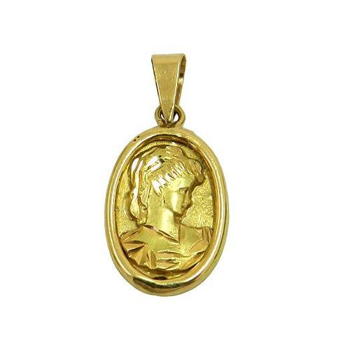 Pingente Camafeu formato oval em Ouro 18k