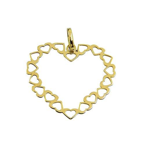 Pingente Coração em Ouro 18k Preço Baixo