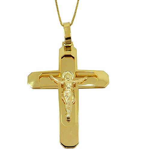 Pingente de Ouro Crucifixo