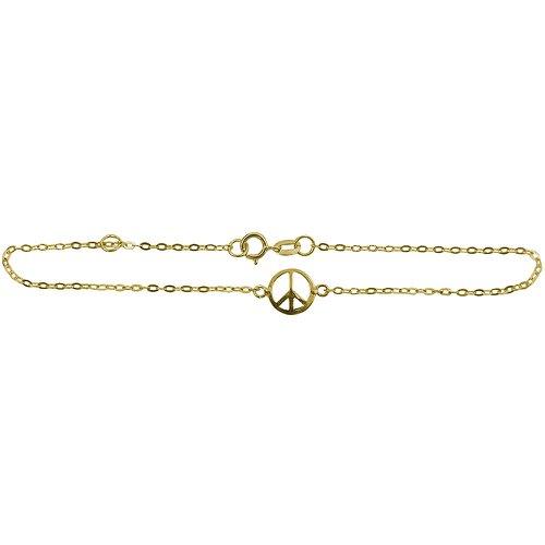 Pulseira em Ouro com o Simbolo da Paz