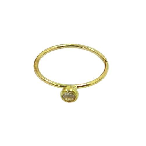Piercing de Nariz em Ouro 18k Argola com Zircônia