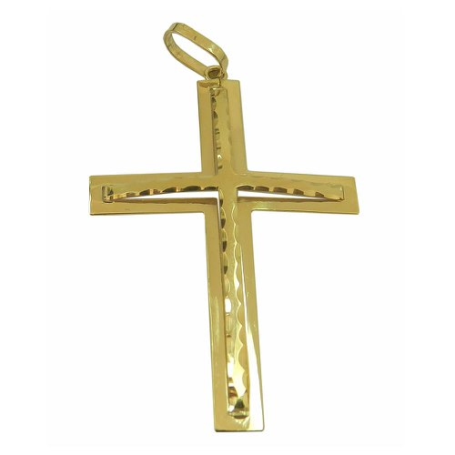 Pingente Crucifixo Grande em Ouro 18k 0,750