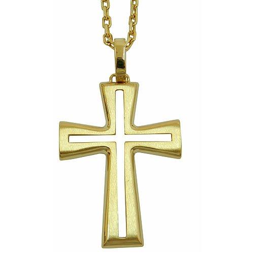 Crucifixo sem Cristo em Ouro 18K Vazado
