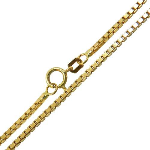 Corrente Veneziana Feminina Grossa de Ouro 18K com 45 cm