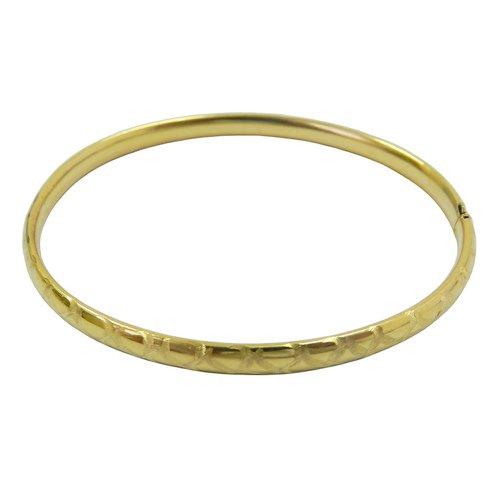 Pulseira em ouro 18k Algema Trabalhada