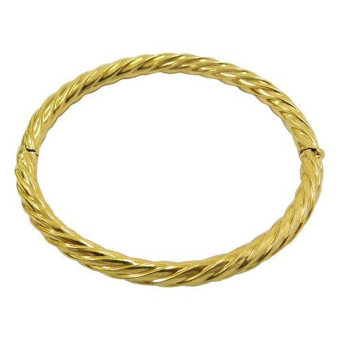 Bracelete em Ouro 18k Fio Torcido