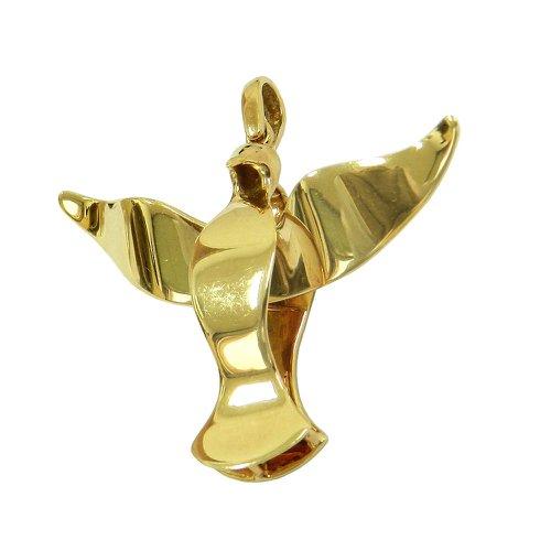 Pingente em ouro 18k Grande Pomba do Divino Espirito Santo