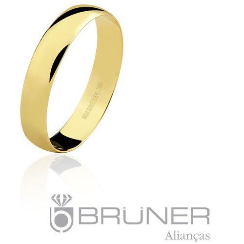 Aliança de Casamento de Ouro 18K Preço Baixo