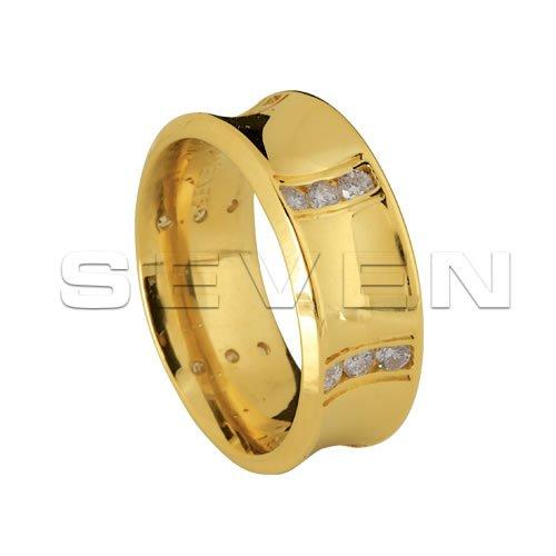 Alianças Anatômicas em Ouro com Brilhantes Seven CES0002