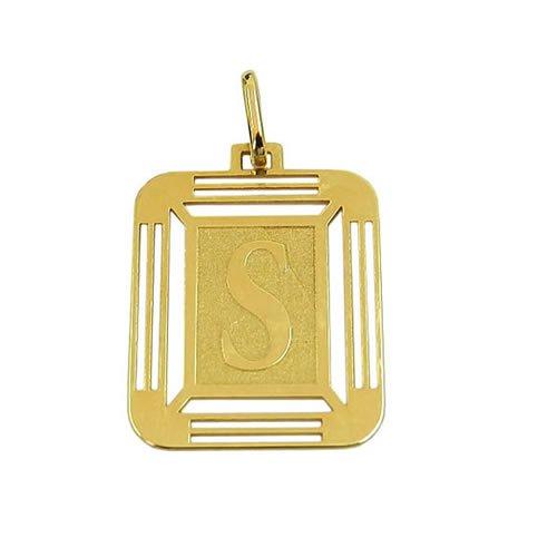 Pingente de Ouro 18K com Letra S