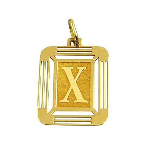 Letra X em Ouro 18K