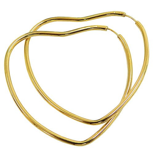 Argola de Coração em Ouro 18K Grande