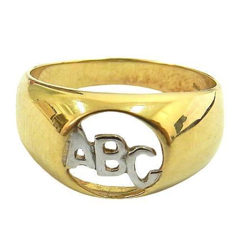 Anel ABC Infantil de Ouro 18K para Menino