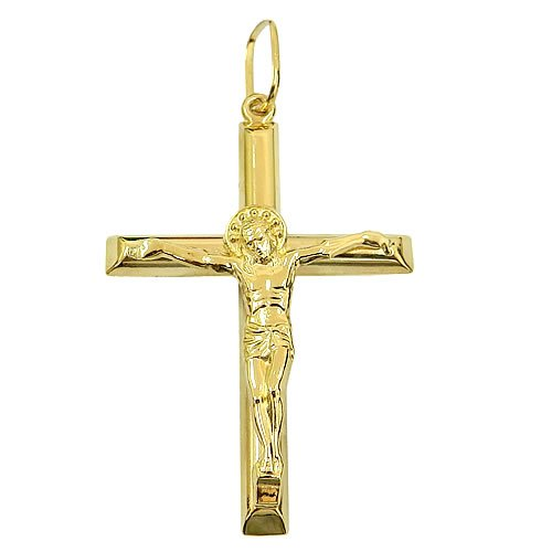 Crucifixo com Cristo em Ouro 18K Grande