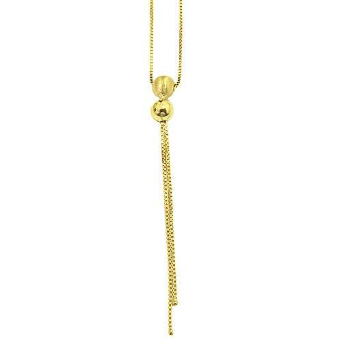 Gargantilha com Bolinhas de 4mm em Ouro 18k
