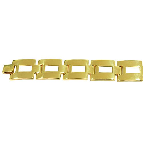 Pulseira Bracelete Masculino em Ouro 18K Design Italiano