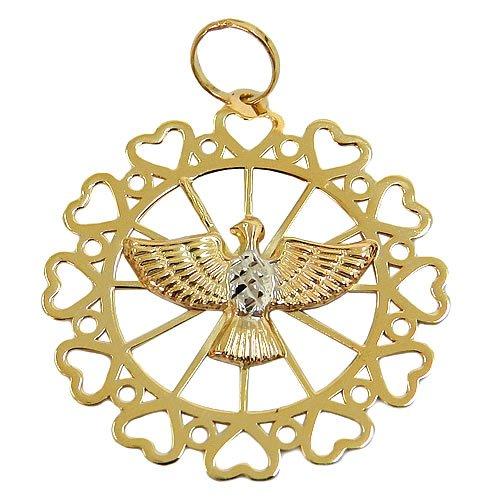 Medalha Divino Espirito Santo Ouro 18K