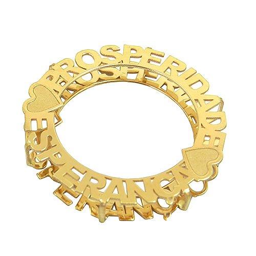 Mandala Dupla Face Prosperidade e Esperança Ouro 18K