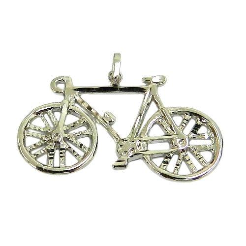 Pingente de Ciclismo em Ouro 18K Bicicleta