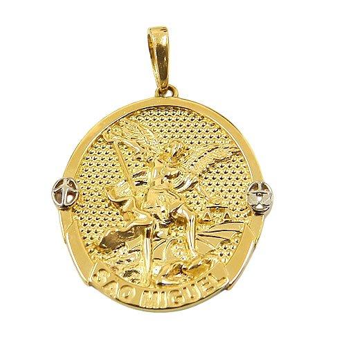 Medalha de São Miguel Arcanjo em Ouro 18K