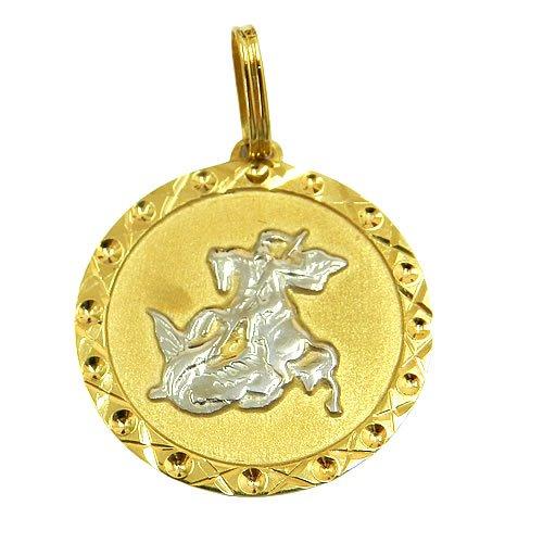Medalha com imagem de São Jorge em Ouro 18K